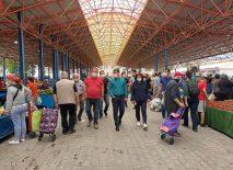 Seferihisar'da semt pazarları tedbirlerle açıldı