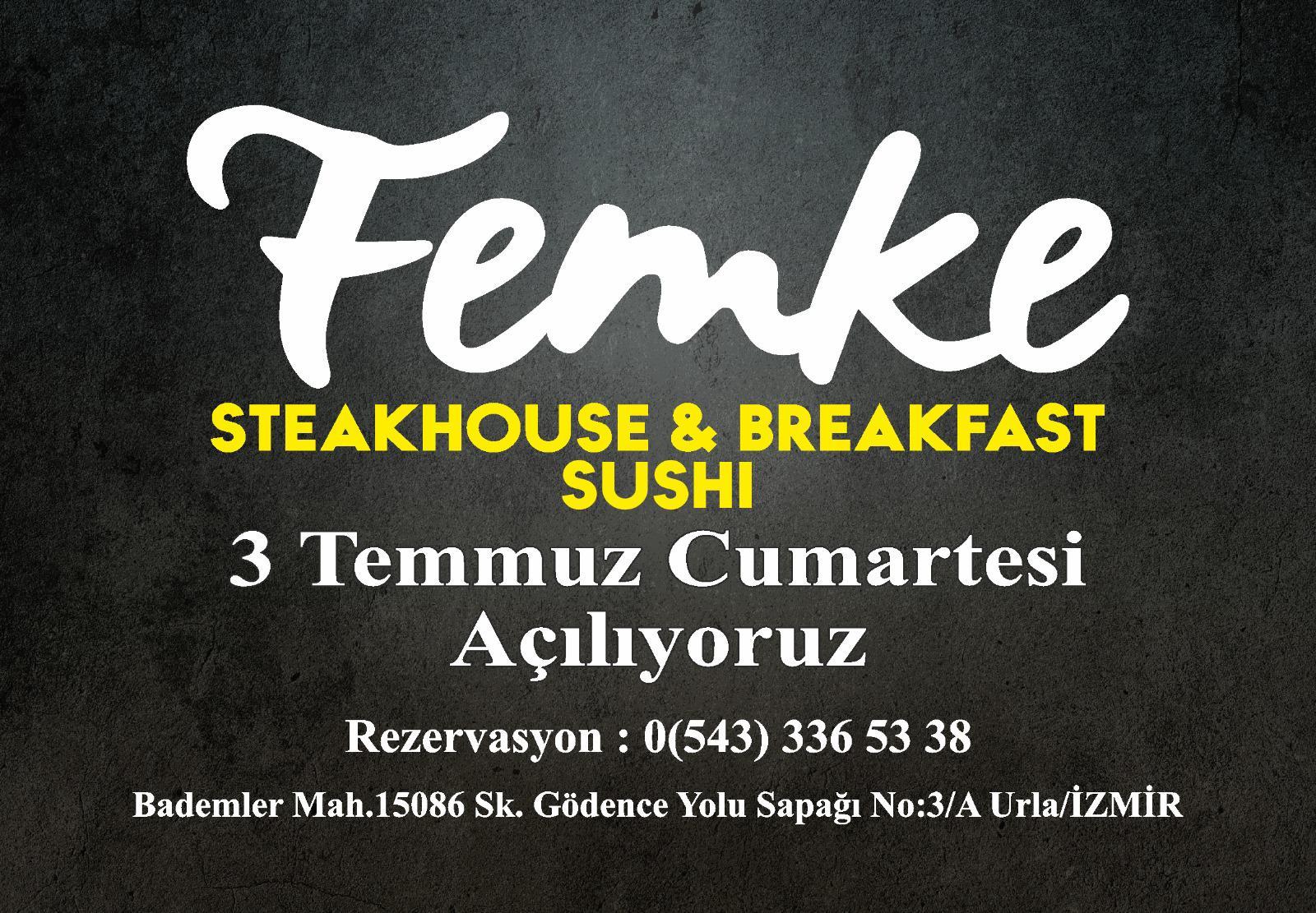 Femke Steakhouse-Breakfast  kapılarını Seferihisarlılara Aslı Zen'le açıyor