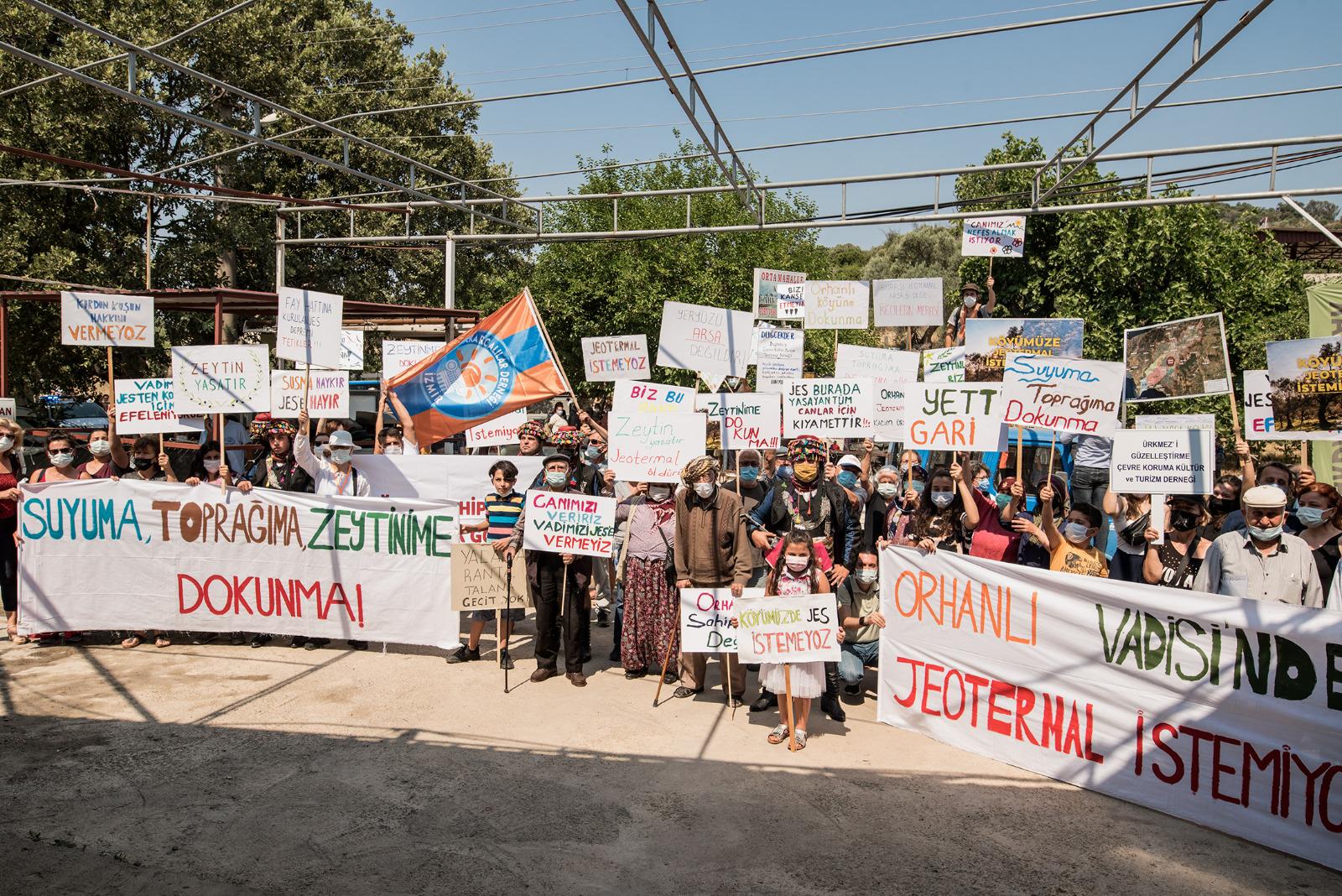 Seferihisar'daki 'JES' toplantısında, Orhanlı halkı direndi